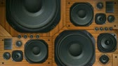 звук : Vintage stereo speakers bass thumping. 120bpm, simple beat included for reference. Seamless looping video and audio.-