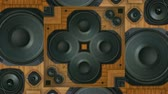 boates : Vintage stereo speakers bass thumping. 120bpm, simple beat included for reference. Seamless looping video and audio.-