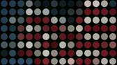 yuvarlak : Abstract of Red White and Blue Dots pulsing. Seamless looping video animation.-