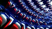 quarto : 3D animation of Red, white and blue stars background. Seamless loop.- Stock Footage