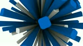 digitalmente : 3D squares rotating. Seamless looping video animation.- Stock Footage