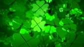 gündüz : Happy St. Patricks Day animated 3D abstract background!- Stok Video