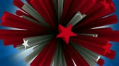 digitalmente : 3D stars rotating. Seamless looping video animation.-
