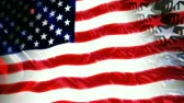 quarto : Red, white and blue stars background with American flag composite. Seamless loop.- Stock Footage