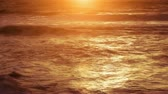romance : Golden sunset on the ocean. Live video, not animation.-HD 1080.