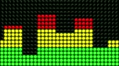 antreman : Animation of red, yellow and green LED dots showing various levels of intensity of a treadmill or elliptical exercise machine. Seamless looping video animation. Stok Video