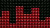antreman : Animation of red LED dots showing various levels of intensity of a treadmill or elliptical exercise machine. Seamless looping video animation.-