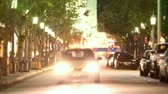 flare light : Long view of city street time lapse in Westwood, Los Angeles, CA. D-SLR shot.-