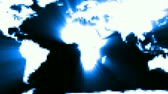 communications : World map on blue background. Moving from left to right. Seamless loop. HD 1080 Loop.-