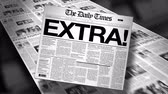 Extra! Newspaper Headline Reveal and Loop 4K HD Animation