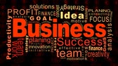 Flying business oriented words Stok Video