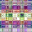 mexicain : Unique rendering, Abstract exotic animation, Fantastic design, Colorful digital art, geometric kaleidoscope Vidéos Libres De Droits