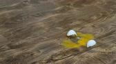 eggshells : falling and breaking an egg on laminate. 4K