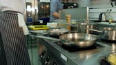tossing up : Chef tossing and stirring dishes on the stove Stock Footage