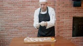 step by step video : Prepare home-cooked dumplings with seafood on the table