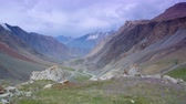 ice mountain : Barskoon Gorge, Beautiful view of the mountains, Kyrgyzstan, Central Asia