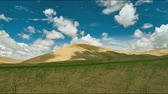 gobi : Mongolia. Sands Mongol Els, sandy dune desert, bright sunny day Stock Footage