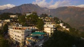 Будда : View of Mcleod Ganj in India, Dharamsala Стоковые видеозаписи