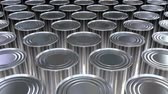 industrial : Canned food mass production 3D loop-able animation