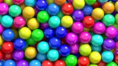 sabor : 3D animation of the colorful gum balls or candies transition, alpha matte is included