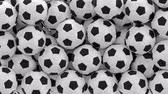 vyplnit : Soccer balls are falling down and filling the screen UHD 3D animation with alpha mask Dostupné videozáznamy