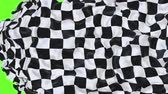 motorräder : Checkered race flag UHD 3D animation with alpha matte