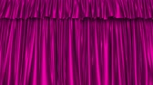 sedoso : UHD 3D animation of the textured pink curtain with alpha matte