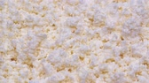 fromage blanc : UHD macro of the homemade cottage cheese on a turntable