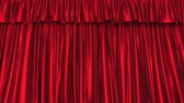 persianas : UHD 3D animation of the textured red curtain with alpha matte Vídeos