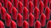 Looping UHD 3D animation of the red lipsticks Stock mozgókép