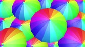 Colorful umbrella seamless looping UHD 3D animation Stock mozgókép