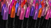 Looping UHD 3D animation of the colorful lipsticks