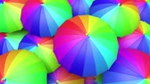 şemsiye : Colorful umbrellas seamless looping 60 fps UHD 3D animation