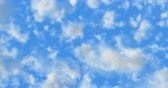 Cinema 4K 24 fps 3D animation of the realistic blue cloudy sky 무비클립