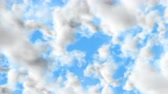 UHD 60 fps 3D animation of the realistic blue cloudy sky with alpha matte