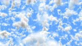 само : UHD 3D animation of the realistic blue cloudy sky