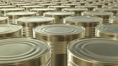 пищевой продукт : UHD looping 3D animation of the brass food cans