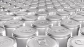 lata : Looping 60 fps 3D animation of the blank aluminum soda cans in UHD