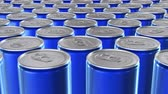 enlatado : Looping 60 fps 3D animation of the blue aluminum soda cans in UHD