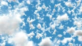 UHD 3D animation of the realistic blue cloudy sky