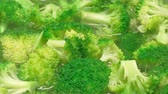 brokolice : UHD closeup shot of the broccoli in a boiling water