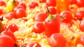 plov : Pilaf  with tomato and red pepper Stock Footage