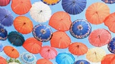 napernyő : Colorful umbrellas on the blue sky background in Antalya, Turkey