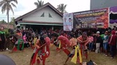 тканый : Indonesia, 17 March 2019:  Kuda Lumping performance in Palembang City, Kuda Lumping is an art originating from Java
