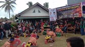 кнут : Indonesia, 17 March 2019:  Kuda Lumping performance in Palembang City, Kuda Lumping is an art originating from Java