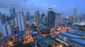 downtown : Makati Skyline, day to night timelapse