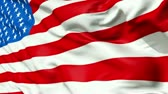 waving : Realistic 3d seamless looping USA(United States) flag waving in the wind.