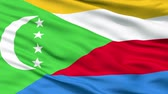 comoros : Comoros Flag Close Up Realistic Animation Seamless Loop - 10 Seconds Long