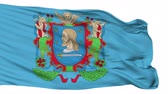 ráncos : Viciebsk flag, city of Belarus, realistic animation isolated on white seamless loop - 10 seconds long (alpha channel is included) Stock mozgókép