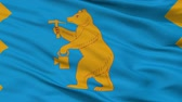 bashkortostan : Mezhgorye closeup flag, city of Russia, realistic animation seamless loop - 10 seconds long Stock Footage